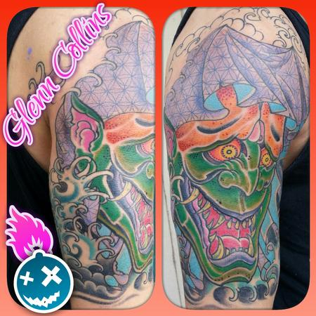 Tattoos - custom color japanese hannya irezumi tattoo half sleeve - 98322