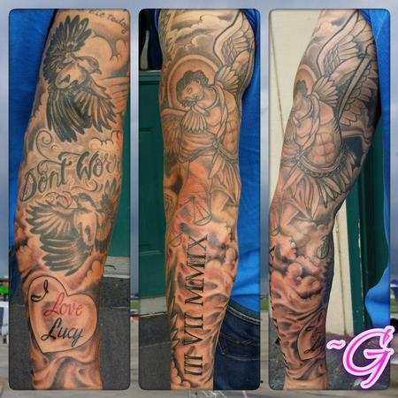 Tattoos - Black and grey sleeve  - 100303