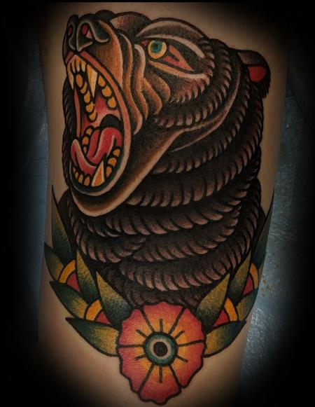 Tattoos - Traditional Bear Tattoo - 136067
