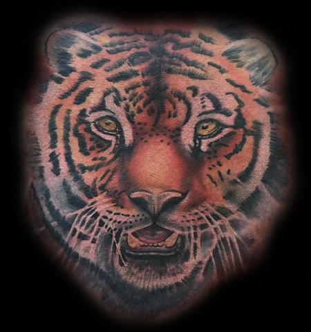Color Realism Tiger Tattoo Design Thumbnail