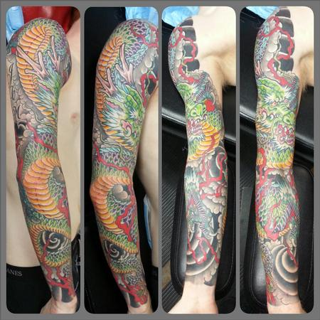 Tattoos - dragon sleeve  - 98922
