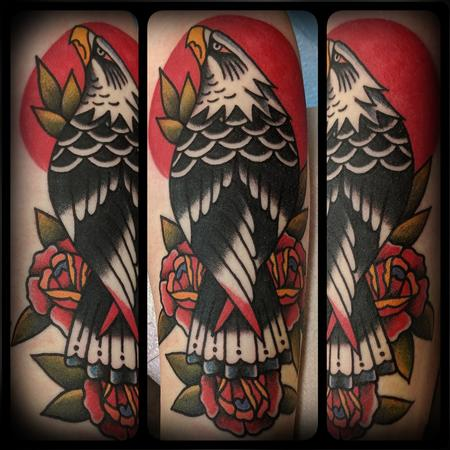 American Traditional Eagle Tattoo Design Thumbnail
