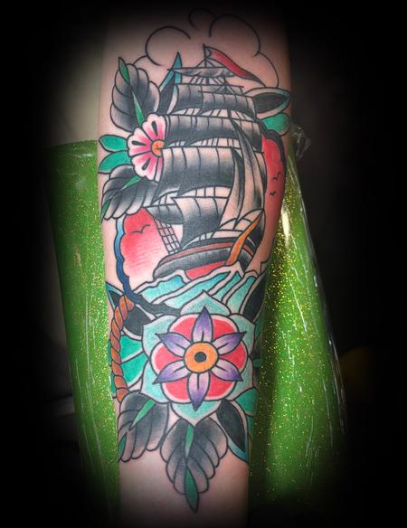 Tall Ship Tattoo Tattoo Design Thumbnail