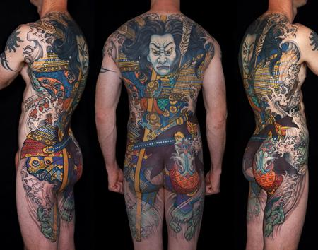 Tattoos - Tairano Tomomori Japanese back piece - 129170