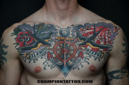 Tattoos - Navy Chest - 107940