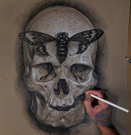 Tattoos - Skull Sketch  - 125076