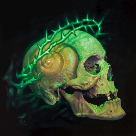 Christian Perez  - Shell Skull with Crown of Thorns