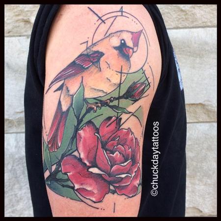 Tattoos - Cardinal Rose - 125701