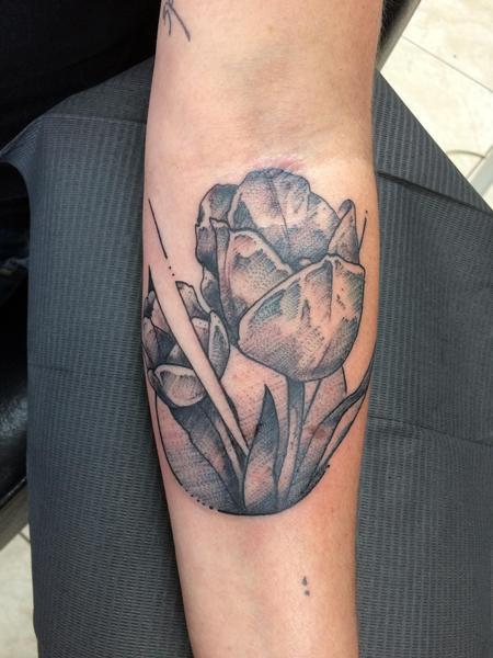 Tattoos - Tulips - 128280