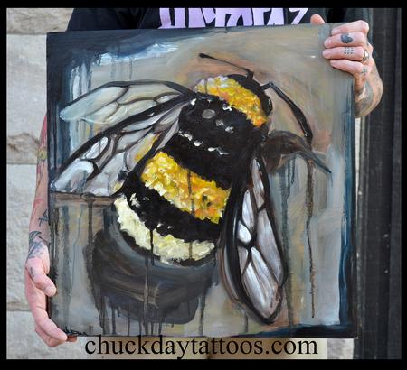 Tattoos - Bee oil painting - 94200