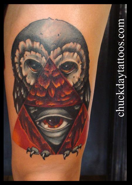Tattoos - owl seeing eye - 84177