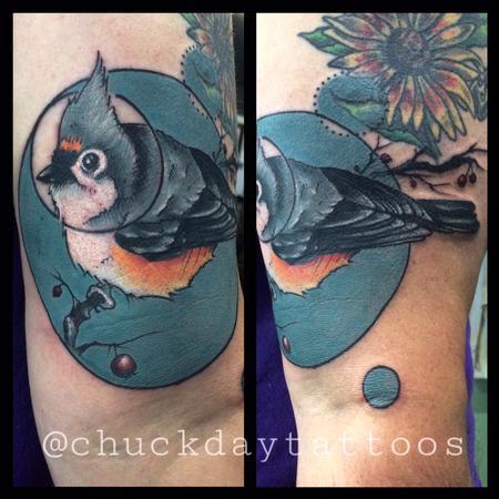 Tattoos - tufted titmouse - 112461