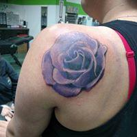 Tattoos - Purple Rose - 131316