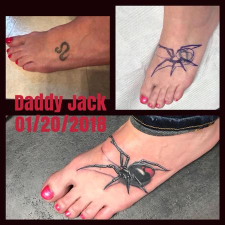 Tattoos - Black Widow Cover Up - 132222