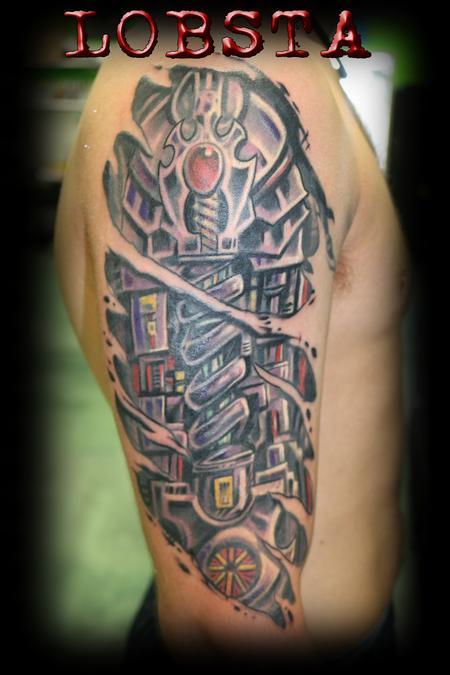 Tattoos - Bio-Mech LOBSTA style - 129518
