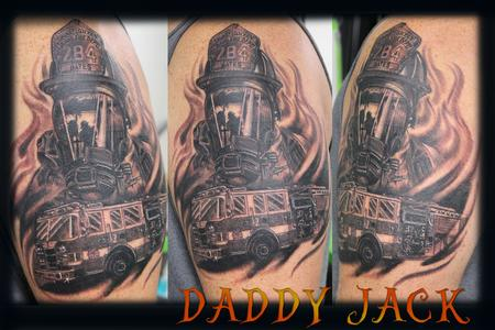 Tattoos - Custom Fire Fighter  - 130000