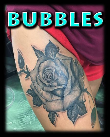 Tattoos - Realistic Black and Grey Rose - 130662