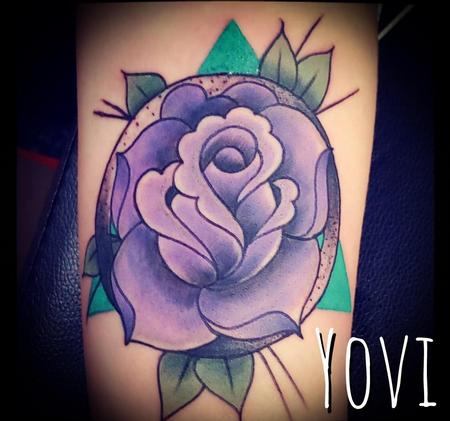 Tattoos - Purple Rose - 137258