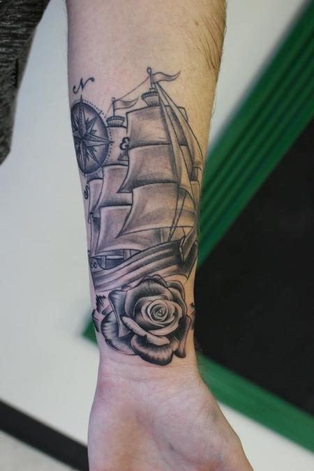 Tattoos - Nautical Forearm Piece - 126506