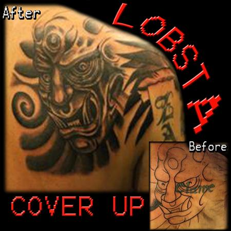 Tattoos - Script Cover Up - 130934