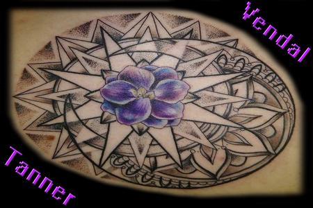Tattoos - Delicate Flower Burst - 130912