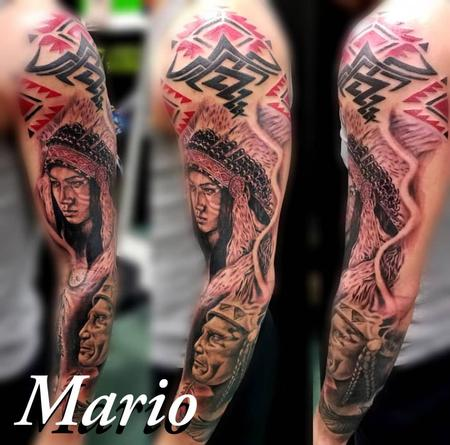 Tattoos - Native American Sleeve - 137786