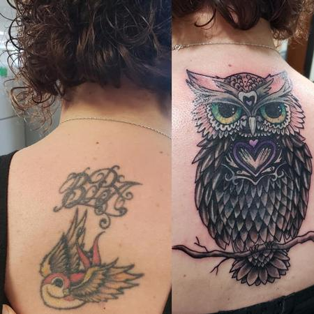 Tattoos - Owl Cover Up - 138515