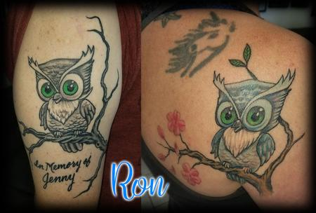 Tattoos - Memorial_Owl_For-Sister_ByRon - 133984