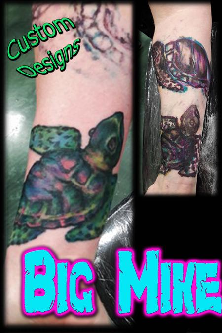 Tattoos - Original Custom Freehand Turtles - 131859
