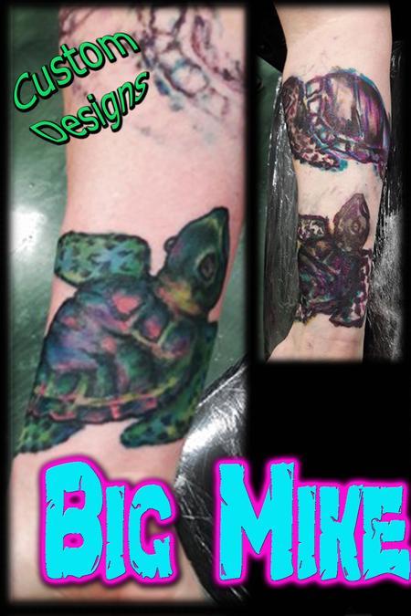 Tattoos - Original Custom Freehand Turtles - 131859