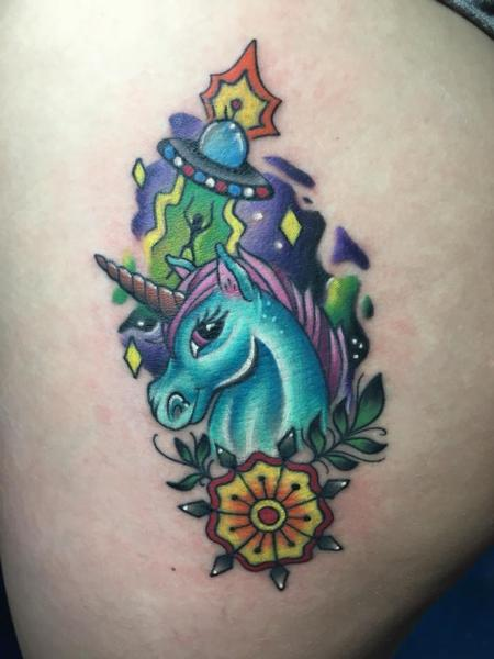 Tattoos - Alien and unicorn tattoo - 132511