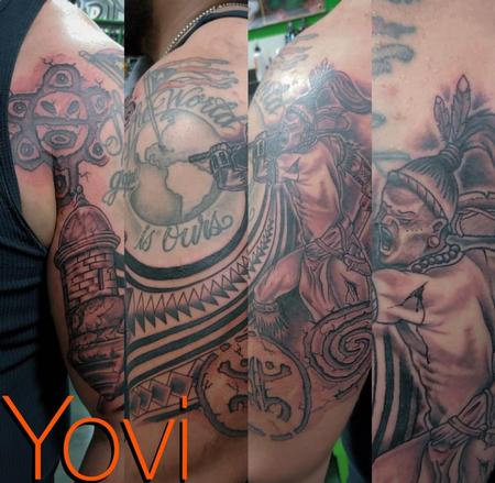 Tattoos - Puerto Rican Half Sleeve - 139033