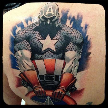 Tattoos - Captain America Tattoo - 75283