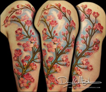Tattoos - Cherry Blossom Half Sleeve Tattoo - 75186