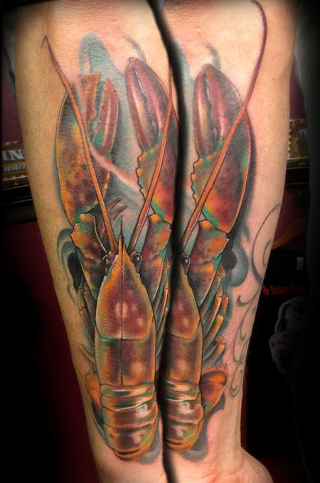 Tattoos - Colorful Lobster Tattoo - 79852