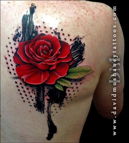 Tattoos - Abstract Rose Tattoo - 89575