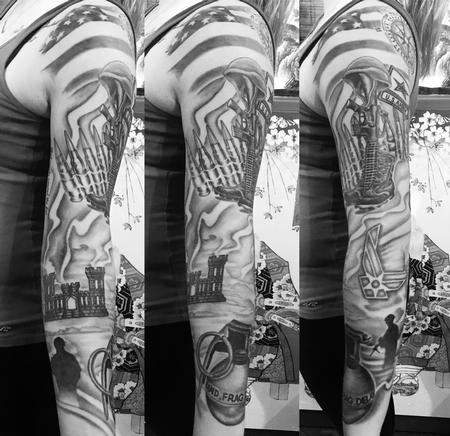 Tattoos - Military sleeve  - 126666