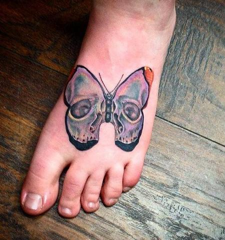 Tattoos - Butterfly skull  - 98047