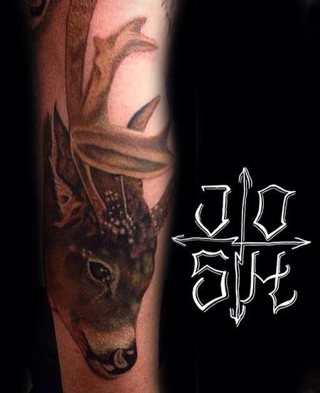 Tattoos - Whitetail deer - 102068