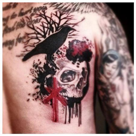 Tattoos - Trash polka tattoo by Joshua Nordstrom - 89309