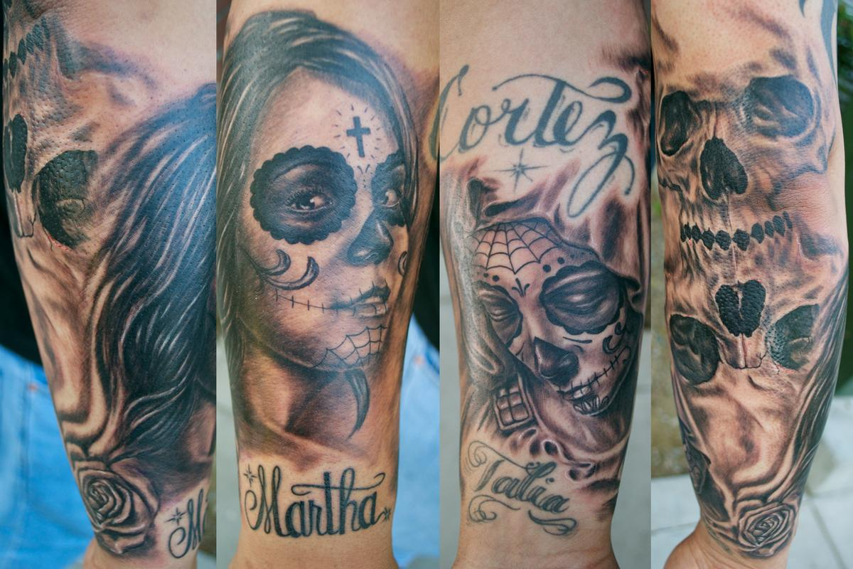 Tattoos - Day of the Dead Sleeve - 64839