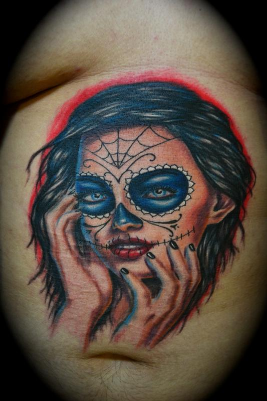 Tattoos - Award Winning Day of the Dead Girl - 63915