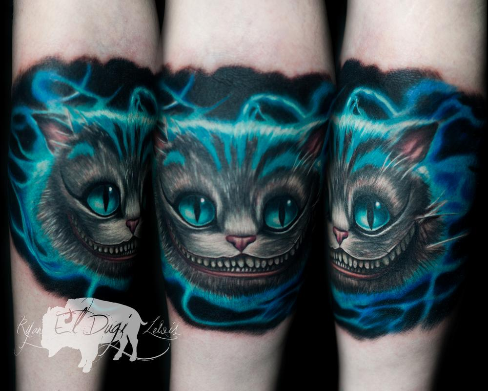 Tattoos - Cheshire Cat Alice in Wonderland - 116059