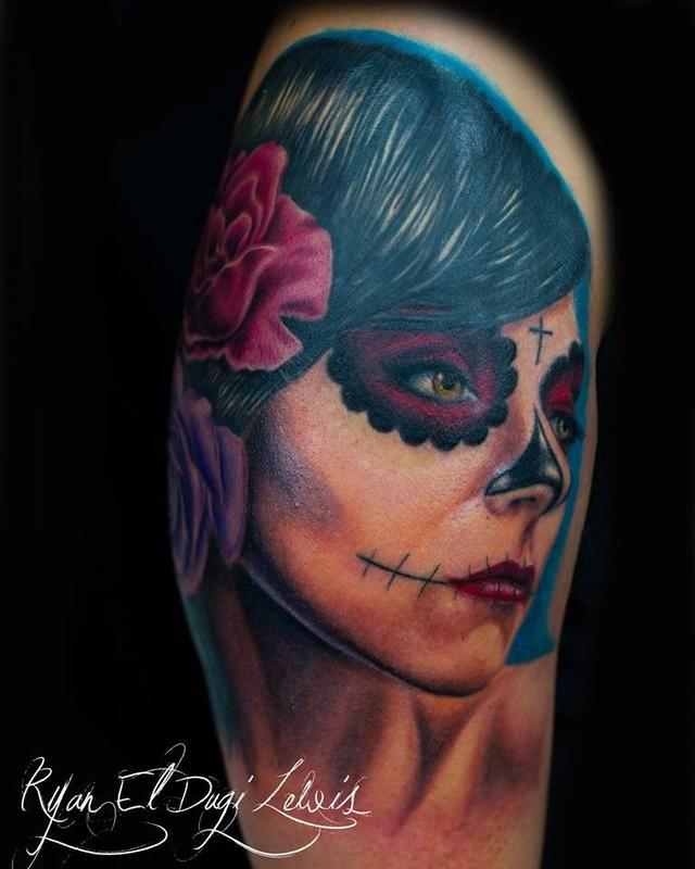 Tattoos - Day of the Dead portrait  - 89548