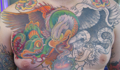 New School Cover up Tattoos And Snake Cover up Tattoo