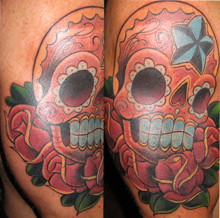 Tattoos - Day of the dead skull.  - 20942