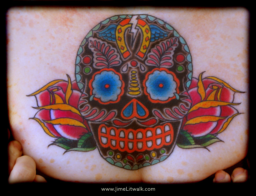 day of dead skull tattoo meaning. Day of the Dead Skull Chest