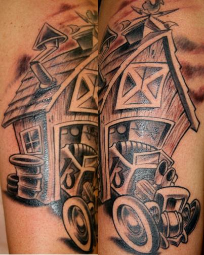Hot rod barn by jime litwalk tattoonow for Hot rod tattoos