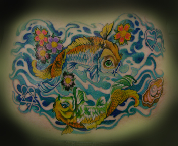Tattoos - DOUBLE KOI !! - 25159
