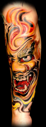 Tattoos - Shishiguchi Demon Mask ! - 28263